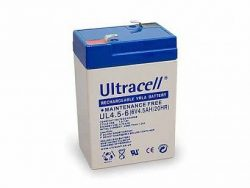 Ultracell accu 6 volt 4,5 Ah