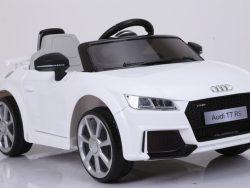 Audi TTrs 12V - Wit - Softstart, Leder, Rubberbanden