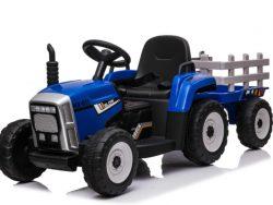 Tractor met Trailer - Blauw - Bluetooth - Multimedia - Softstart