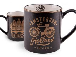 Beker - Amsterdam - Zwart Goud