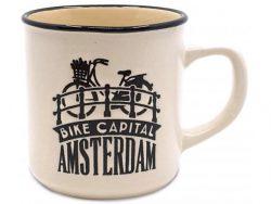 Campmug beker - Amsterdam - Klein - Creme