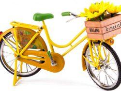 Miniatuurfiets - Zonnebloemen - Van Gogh - Geel