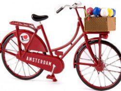 Miniatuurfiets - Amsterdam - Tulpen - Rood