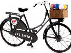 Miniatuurfiets - Amsterdam - Tulpen - Zwart