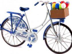 Miniatuurfiets - Holland - Tulpen - Delftsblauw