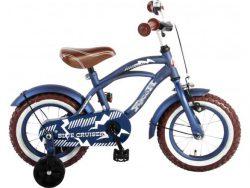 Volare Blue Cruiser Kinderfiets - Jongens - 12 inch - Blauw - 95% afgemonteerd