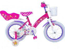 Disney Minnie Bow-Tique Kinderfiets - Meisjes - 14 inch - Roze - 95% afgemonteerd