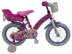 Disney Minnie Cutest Ever! - Kinderfiets - Meisjes - 14 inch - Roze - Twee Handremmen